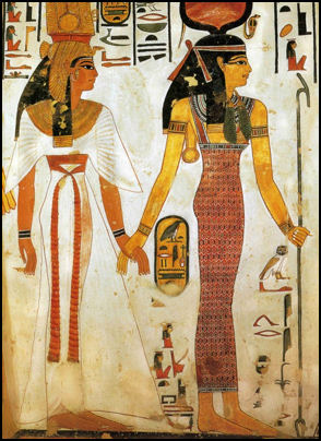 Isis with Nefertari