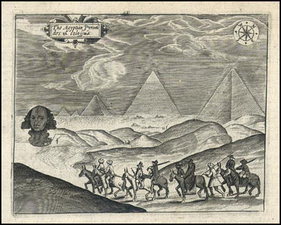 The pyramids and sphinx 17th Century