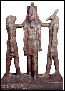 seth with horus and Ramses III